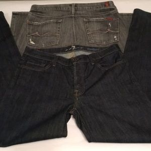 7 for all mankind Lot 2 Slimmy & Standard 33 x 34